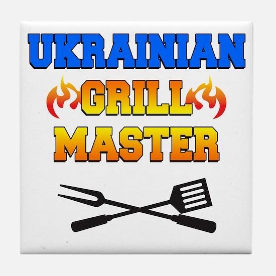 Ukrainian Grill Master Tile Coaster