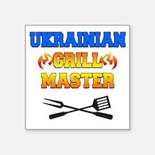 """Ukrainian Grill Master Square Sticker 3"""" x 3"""""""