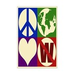 Peace, Earth, Love, Not W (11x17 Poster)