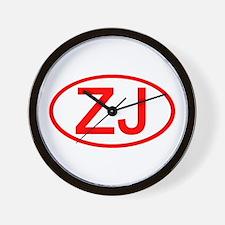 ZJ Oval (Red) Wall Clock