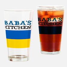 Babas Kitchen Apron Drinking Glass