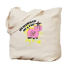 Muhammed On A Pig Tote Bag