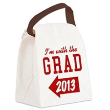 I'm With Grad 2013 (left) Canvas Lunch Bag