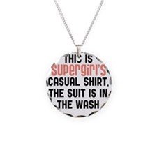 Supergirls casual shirt Necklace
