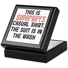 Supergirls casual shirt Keepsake Box