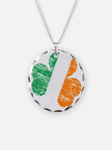 Vintage Distressed Irish Fla Necklace