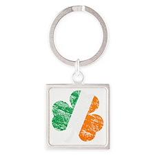 Vintage Distressed Irish Flag Sham Square Keychain