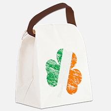Vintage Distressed Irish Flag Sha Canvas Lunch Bag