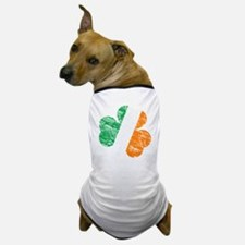 Vintage Distressed Irish Flag Shamrock Dog T-Shirt