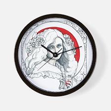 Alice Nouveau Wall Clock