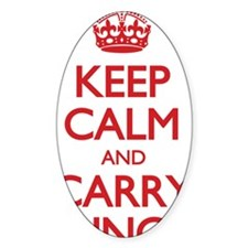 keep calm and carry lunch Decal