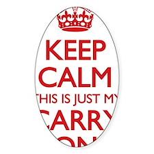 Keep Calm Carry On Bag Decal