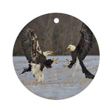 fighting eagles Round Ornament