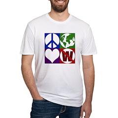 Peace, Earth, Love, Not W (No-Sweat Shirt)