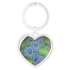 Earth Heart Keychain