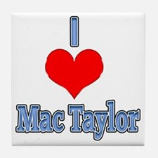 I heart Mac Taylor Tile Coaster