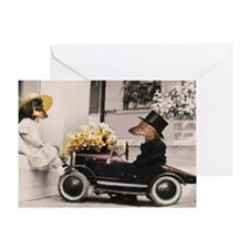 Old Fashioned Doxies Greeting Card