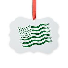 Irish American Flag - green Ornament