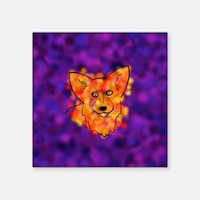 """Spotted Corgi Square Sticker 3"""" x 3"""""""