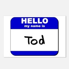 hello my name is tod  Postcards (Package of 8)