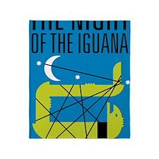 Night of the Iguana Throw Blanket