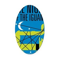 Night of the Iguana Oval Car Magnet