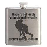 Rugby player Flask Bottles