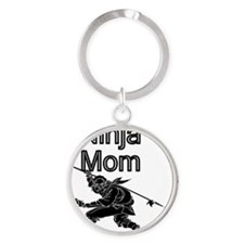 Ninja Mom Round Keychain