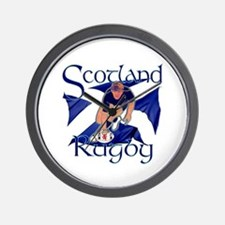Scotland rugby player try design Wall Clock