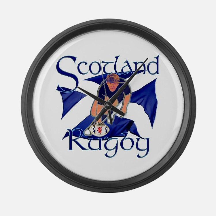 Scotland Rugby Clocks Scotland Rugby Wall Clocks Large