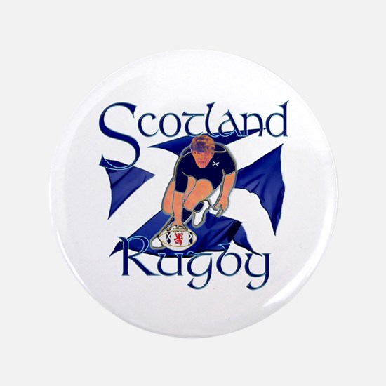 """Scotland rugby player try design 3.5"""" Button"""