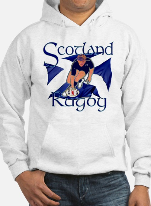 Scotland rugby player try design Hoodie
