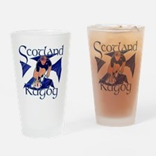 Scotland rugby player try design Drinking Glass