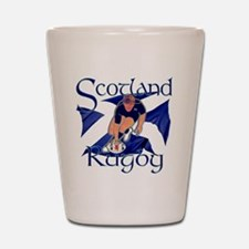 Scotland rugby player try design Shot Glass
