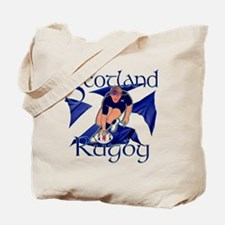 Scotland rugby player try design Tote Bag