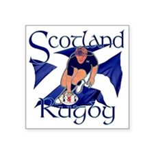"""Scotland rugby player try d Square Sticker 3"""" x 3"""""""