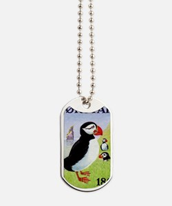 Vintage 1978 Faroe Islands Puffins Postag Dog Tags