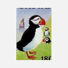 Vintage 1978 Faroe Islands Puffin Rectangle Magnet
