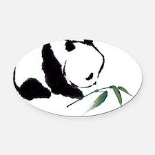 Chinese Panda art Oval Car Magnet