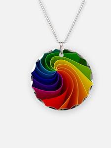 2500 rainbow ribbon Necklace
