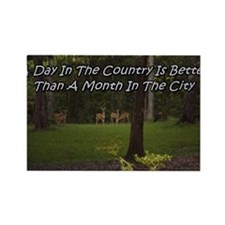a day in the country Rectangle Magnet