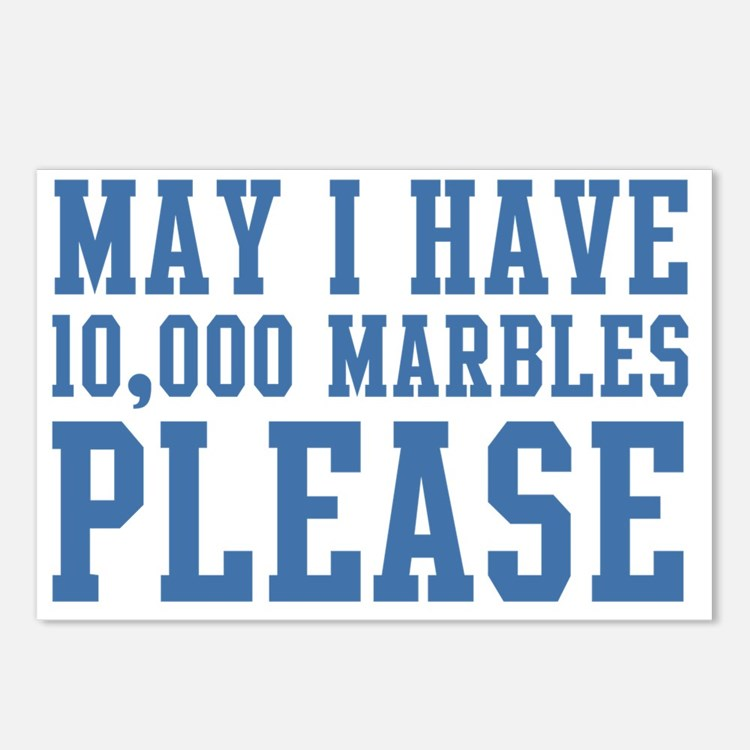 May I have 10,000 Marbles Postcards (Package of 8)