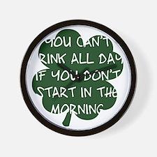 irishDrinkingAll1B Wall Clock