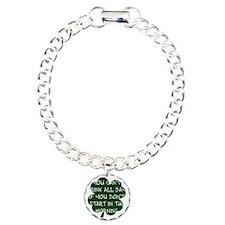 irishDrinkingAll1B Charm Bracelet, One Charm