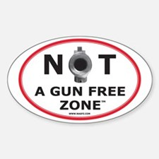 NOT A GUN FREE ZONE Sticker (Oval)