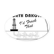 Frack the Bakken Oval Car Magnet