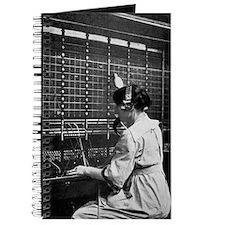 Telephone switchboard operator, 1914 Journal