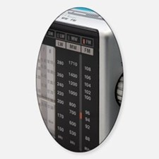 Portable Analogue radio tuning scal Decal