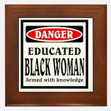 Educated Black Woman Framed Tile