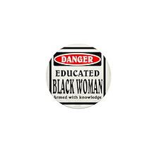 Educated Black Woman Mini Button